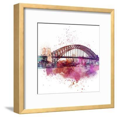 Sydney Harbor Bridge 4 - Square-Lebens Art-Framed Art Print