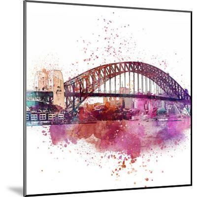 Sydney Harbor Bridge 4 - Square-Lebens Art-Mounted Art Print