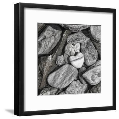 Stone Heart 2 - Square-Lebens Art-Framed Giclee Print