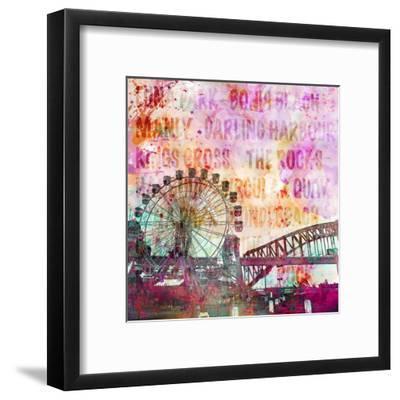 Sydney - Square-Lebens Art-Framed Art Print