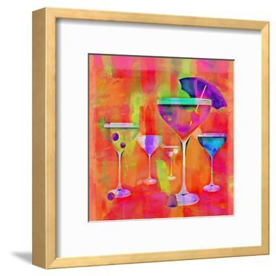 Summer Drinks Colorful - Square-Lebens Art-Framed Art Print