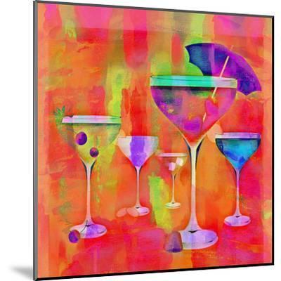 Summer Drinks Colorful - Square-Lebens Art-Mounted Art Print