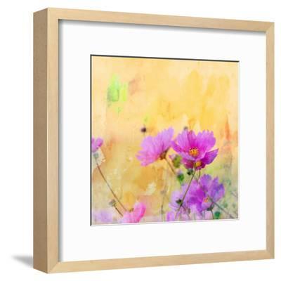 Summer Flower 3 - Square-Lebens Art-Framed Art Print