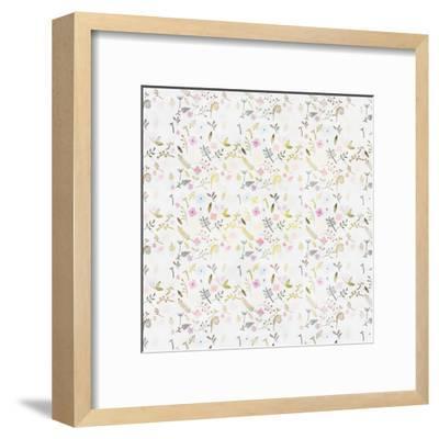 Tiny Flower Pattern - Square-Lebens Art-Framed Giclee Print
