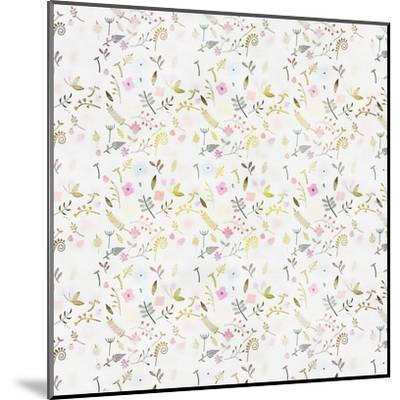 Tiny Flower Pattern - Square-Lebens Art-Mounted Giclee Print