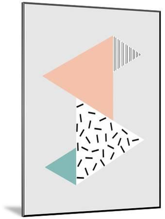 Stripes-Nanamia Design-Mounted Art Print