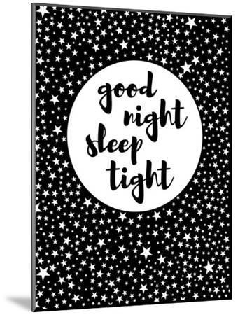 Goodnight-Nanamia Design-Mounted Art Print