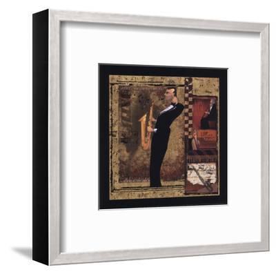 Jazz Sax - Petite-CW Designs, Inc^-Framed Art Print