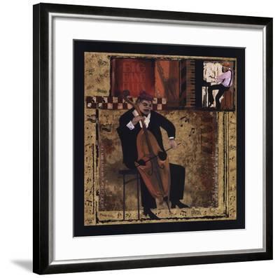 Jazz Cello-CW Designs, Inc^-Framed Art Print