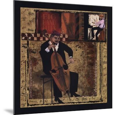 Jazz Cello-CW Designs, Inc^-Mounted Art Print