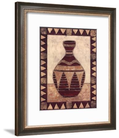 Tribal Urn IV-Elizabeth David-Framed Art Print