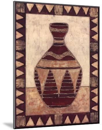 Tribal Urn IV-Elizabeth David-Mounted Art Print