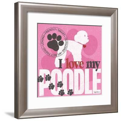 Poodle-Kathy Middlebrook-Framed Art Print
