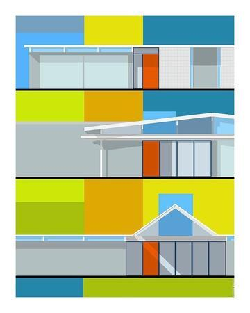 California Eichler-Michael Murphy-Framed Art Print