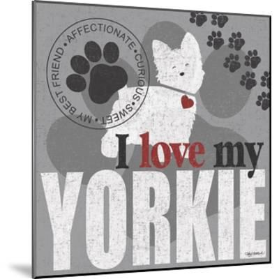 Yorkie-Kathy Middlebrook-Mounted Art Print