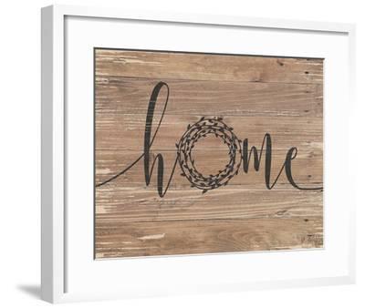 Home Rustic Wreath-Jo Moulton-Framed Art Print