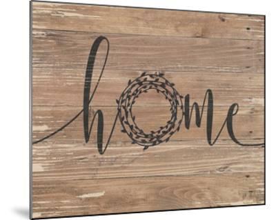 Home Rustic Wreath-Jo Moulton-Mounted Art Print