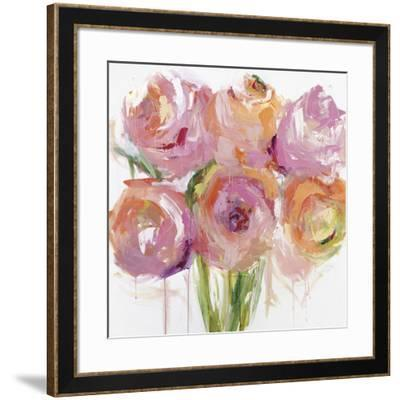 Pink Peonies-Emma Bell-Framed Giclee Print