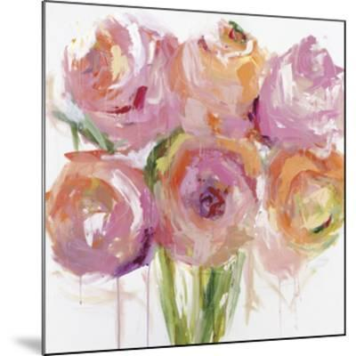Pink Peonies-Emma Bell-Mounted Giclee Print