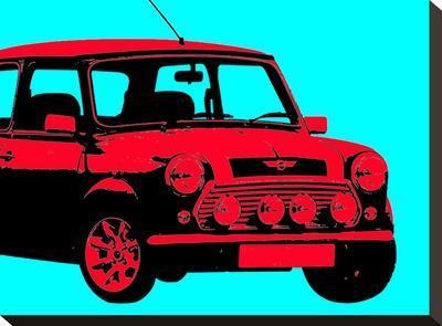 Mini Aqua-Indigo Sage Design-Stretched Canvas Print
