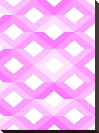 Pink Geometric Style-Wonderful Dream-Stretched Canvas Print