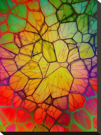Colorful Mosaic Design-Wonderful Dream-Stretched Canvas Print