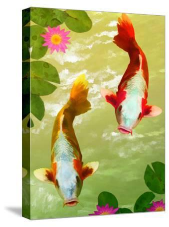 Asia Fish Koi Sea Life-Wonderful Dream-Stretched Canvas Print