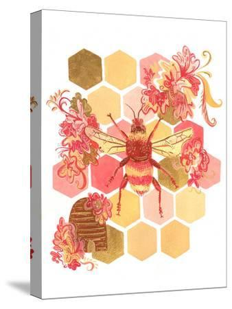 Bumblebee One Fine Day-Cara Kozik-Stretched Canvas Print