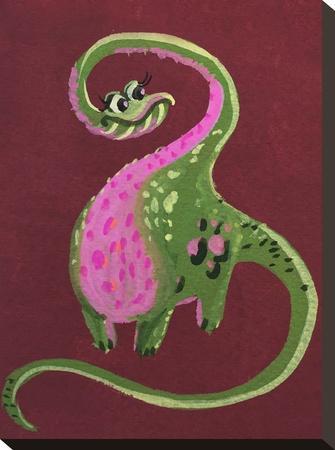 Female Dino-Cara Kozik-Stretched Canvas Print