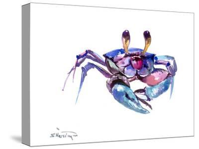 Blue Crab-Suren Nersisyan-Stretched Canvas Print
