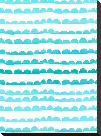 Aqua Pattern-Grab My Art-Stretched Canvas Print