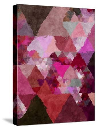 Triangles Abstract Pattern 19-Grab My Art-Stretched Canvas Print