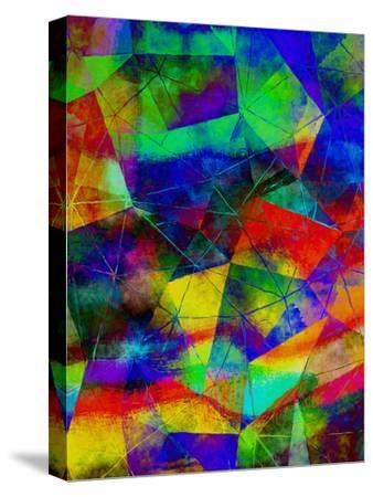 Triangles Abstract Pattern 9-Grab My Art-Stretched Canvas Print
