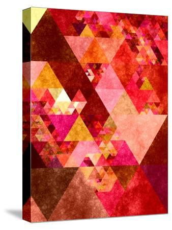 Triangles Abstract Pattern 12-Grab My Art-Stretched Canvas Print