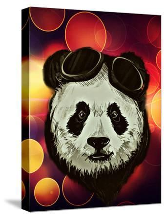 Hipster Panda with Bokeh Style-Wonderful Dream-Stretched Canvas Print