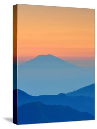 Sundown In Mountains Landscape-Grab My Art-Stretched Canvas Print