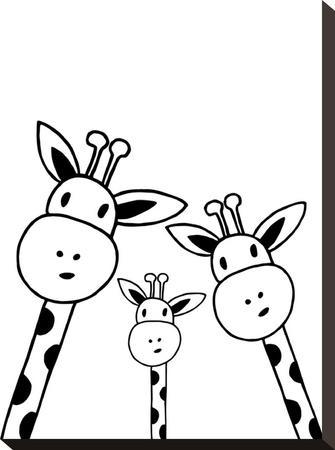Giraffe-Nanamia Design-Stretched Canvas Print