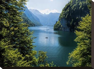 Koenigssee Lake Alpes Mountains Bavaria 6-Grab My Art-Stretched Canvas Print
