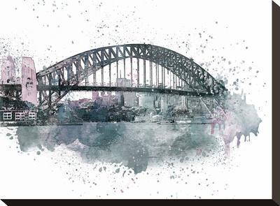Sydney Harbor Bridge 2-Lebens Art-Stretched Canvas Print