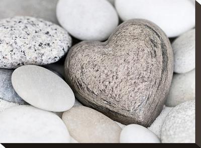 Stone Heart-Lebens Art-Stretched Canvas Print