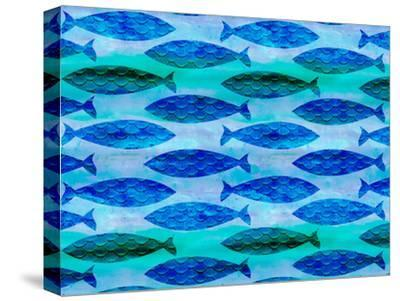 Fish Pattern-Lebens Art-Stretched Canvas Print