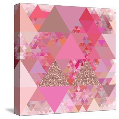 Triangles Abstract Pattern - Square 13-Grab My Art-Stretched Canvas Print