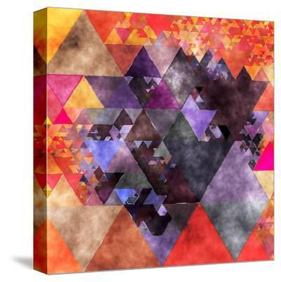 Triangles Abstract Pattern - Square 14-Grab My Art-Stretched Canvas Print