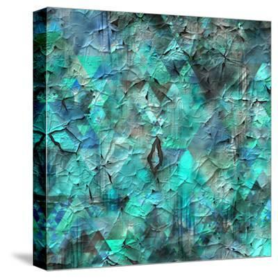 Triangles Abstract Pattern - Square 28-Grab My Art-Stretched Canvas Print