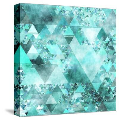 Triangles Abstract Pattern - Square 15-Grab My Art-Stretched Canvas Print
