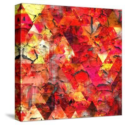 Triangles Abstract Pattern - Square 29-Grab My Art-Stretched Canvas Print