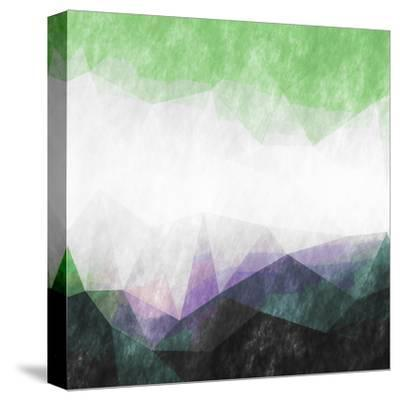 Triangles Abstract Pattern- Square-Grab My Art-Stretched Canvas Print
