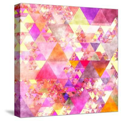 Triangles Abstract Pattern - Square 18-Grab My Art-Stretched Canvas Print