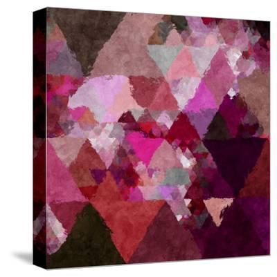 Triangles Abstract Pattern - Square 19-Grab My Art-Stretched Canvas Print