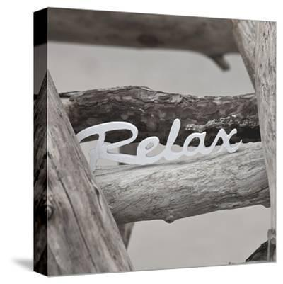 Relax At The Beach - Square-Lebens Art-Stretched Canvas Print